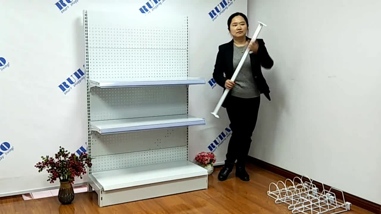 double sides shelving gondola supermarket steel shelf
