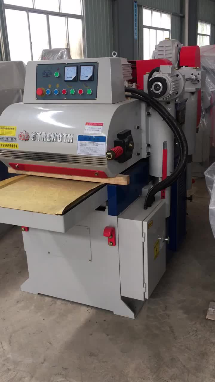 Automatic woodworking surface planer machine with double cutter head