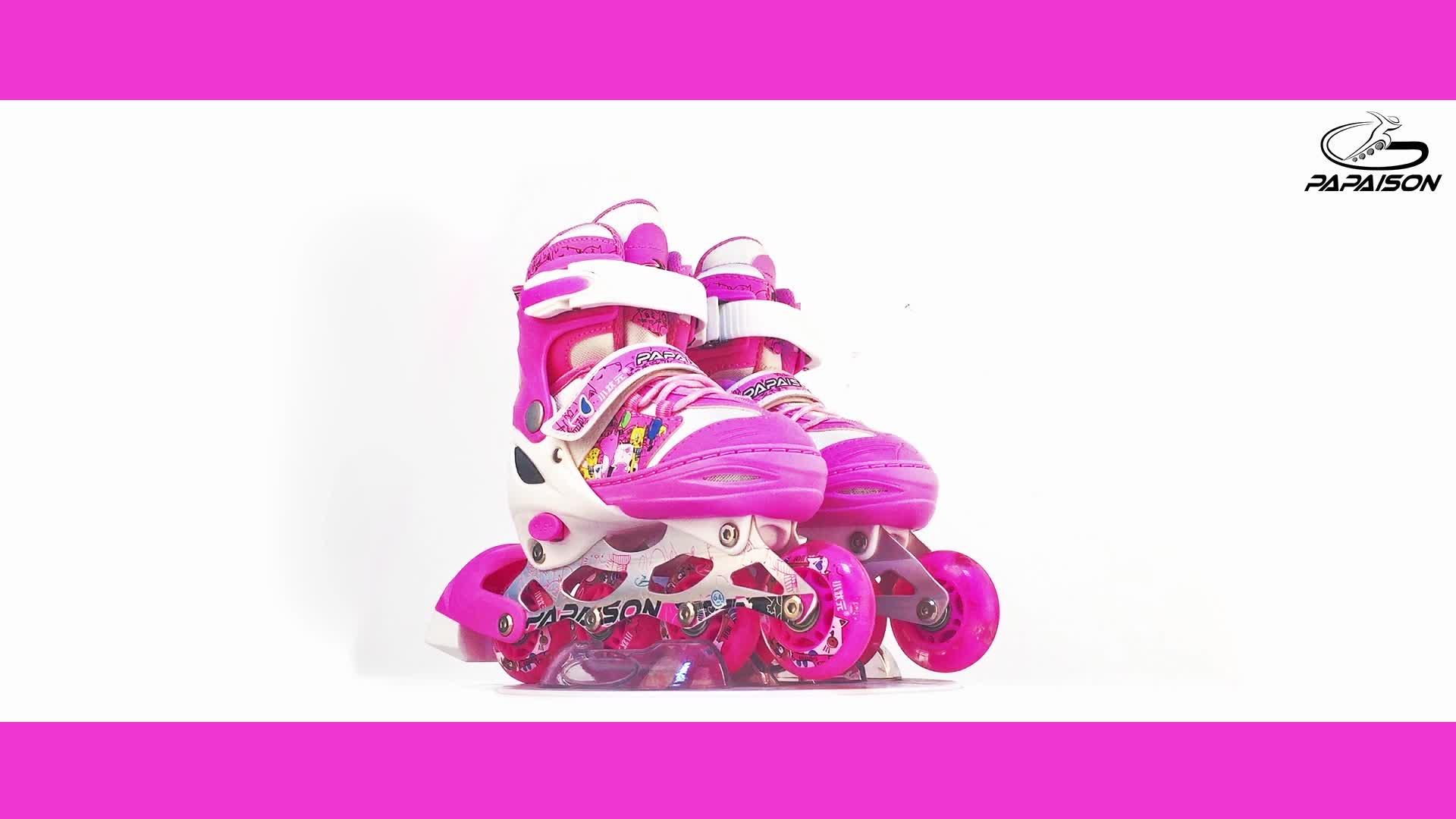 Amazon Best sellers Novo Bonito dos desenhos animados do rolo patins inline acender piscando patins para crianças