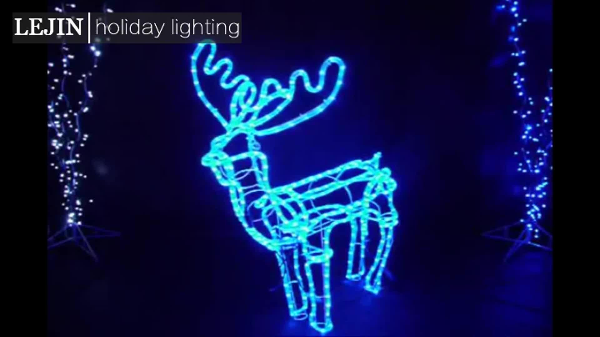 ขายร้อนกลางแจ้ง motif ตกแต่งขนาดใหญ่กลางแจ้งคริสต์มาส reindeer light