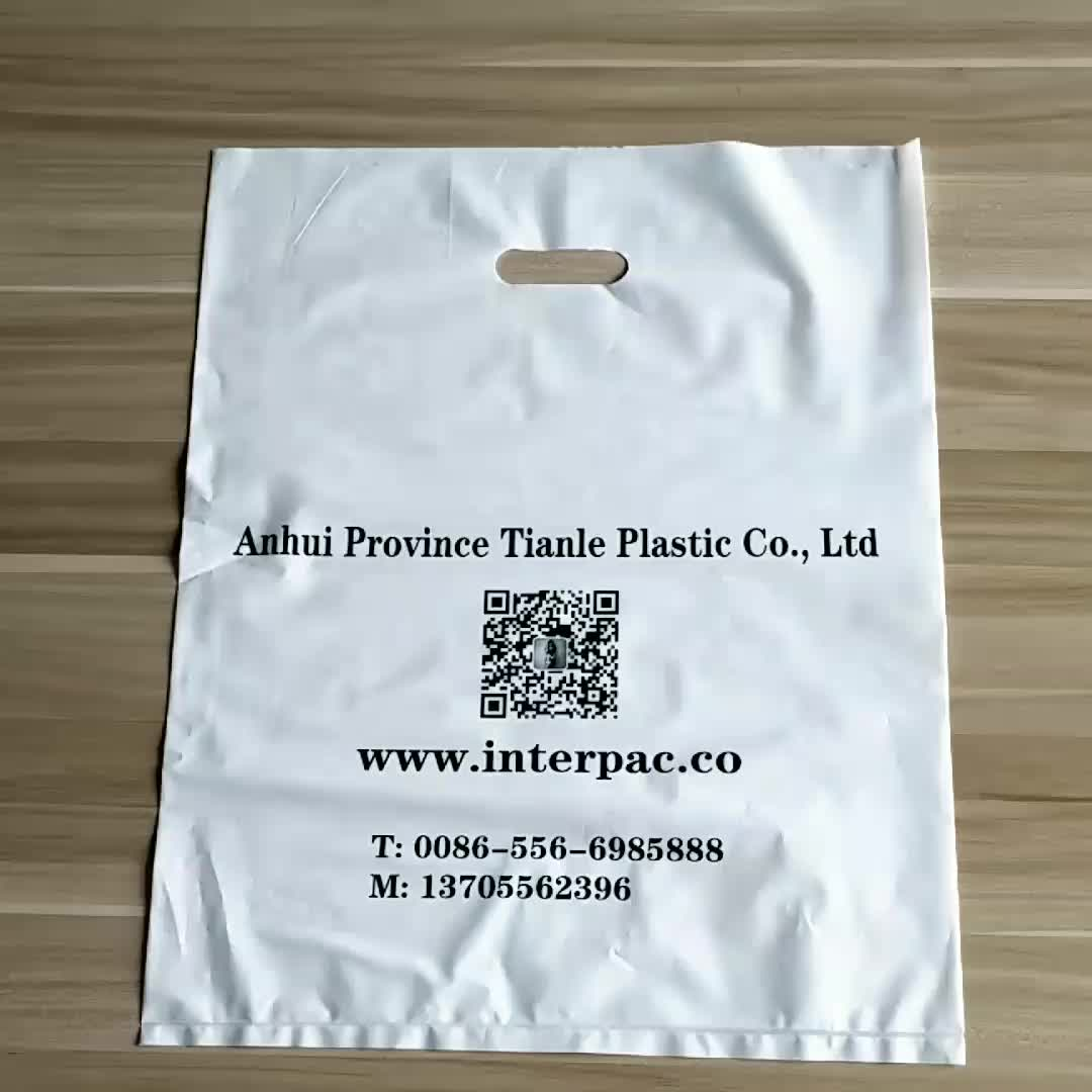 Clear Plastic Shopping Bags Logo Printing Die Cut Bag With ...