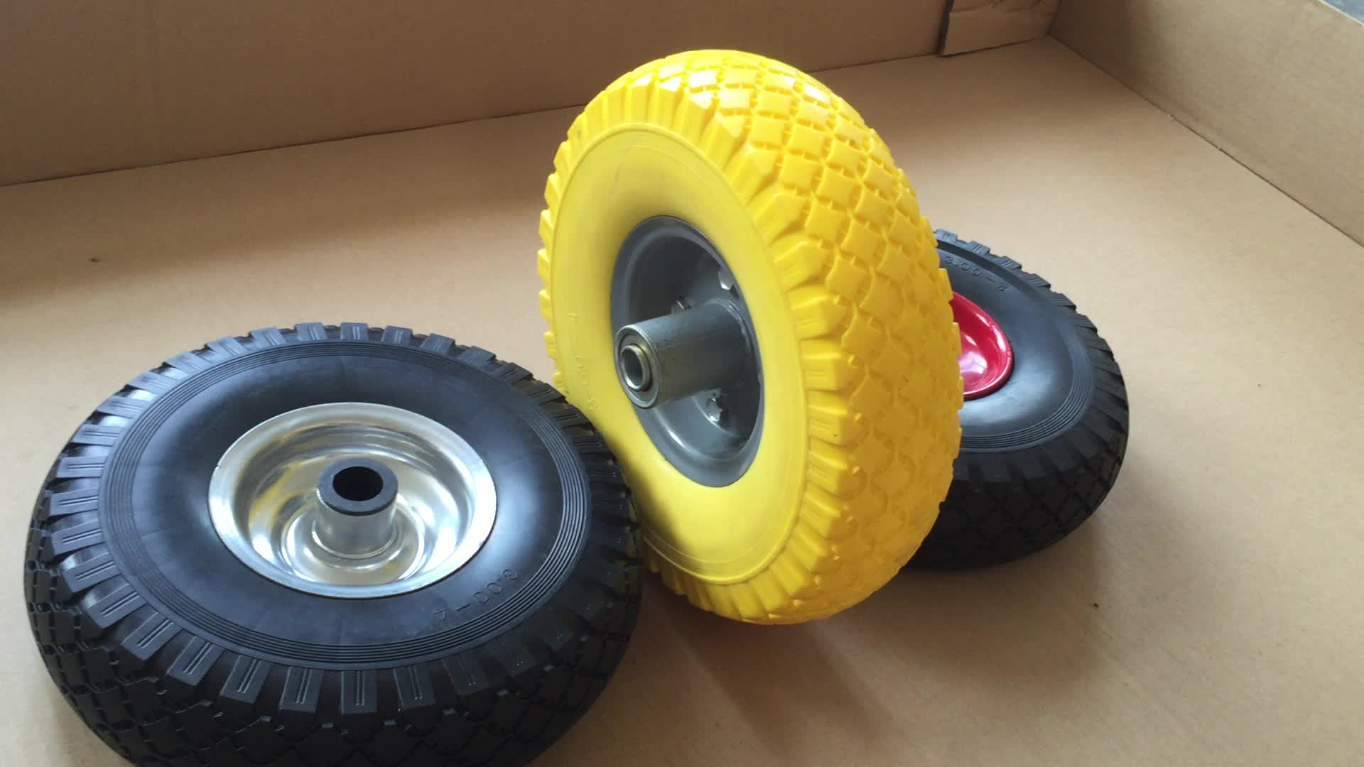 3.00-4 Polyurethane Foam Trolley Wheels and Rims