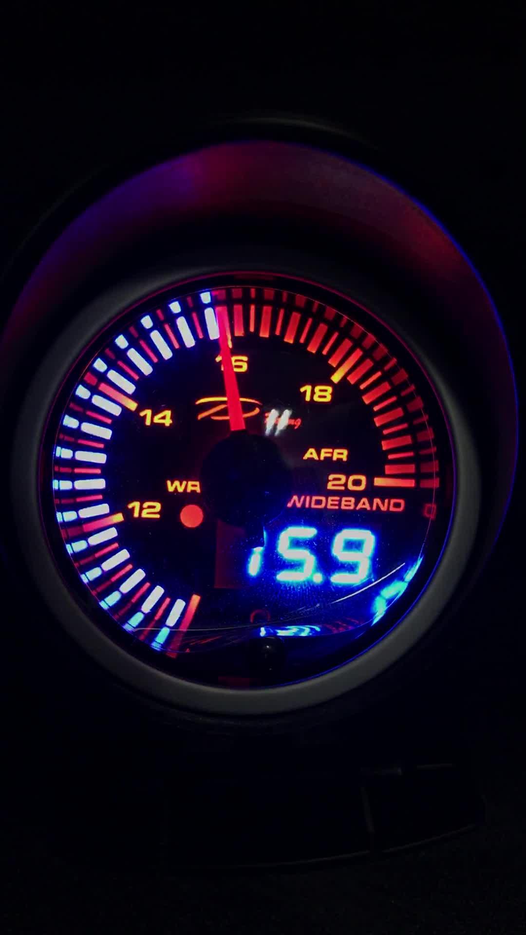 60mm SLD Easy Installation Analog + Digital gauge JDM full set with waterproof sensor Auto Gauge Boost Turbo Gauge