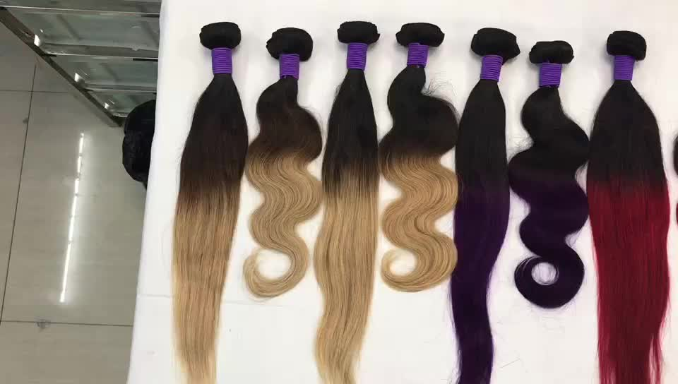 Brazilian Ombre Weave Hair 1b 427 Color Ombre Human Hair Extensions