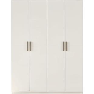 全友家居現代簡約大衣櫃平開門對開門衣櫃衣櫥122702可配同型號牀