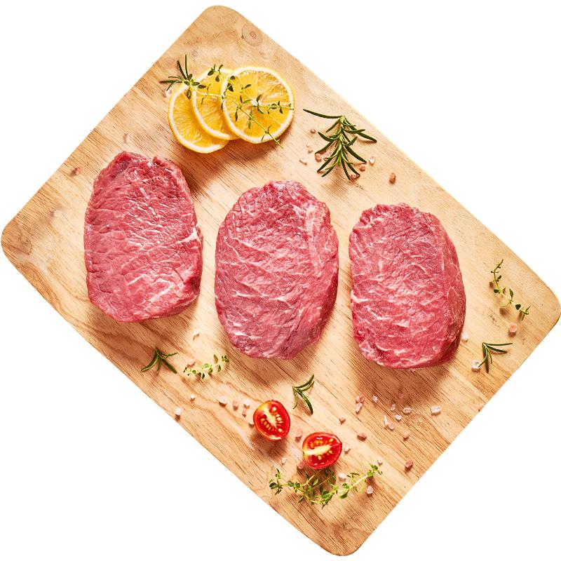 简牛澳洲整切菲力牛排套餐团购10片黑椒牛肉新鲜西冷儿童原切20