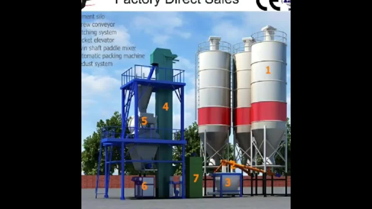 Automatic Dry Mix Mortar Production Line 20-25tph Ceramic Tile ...