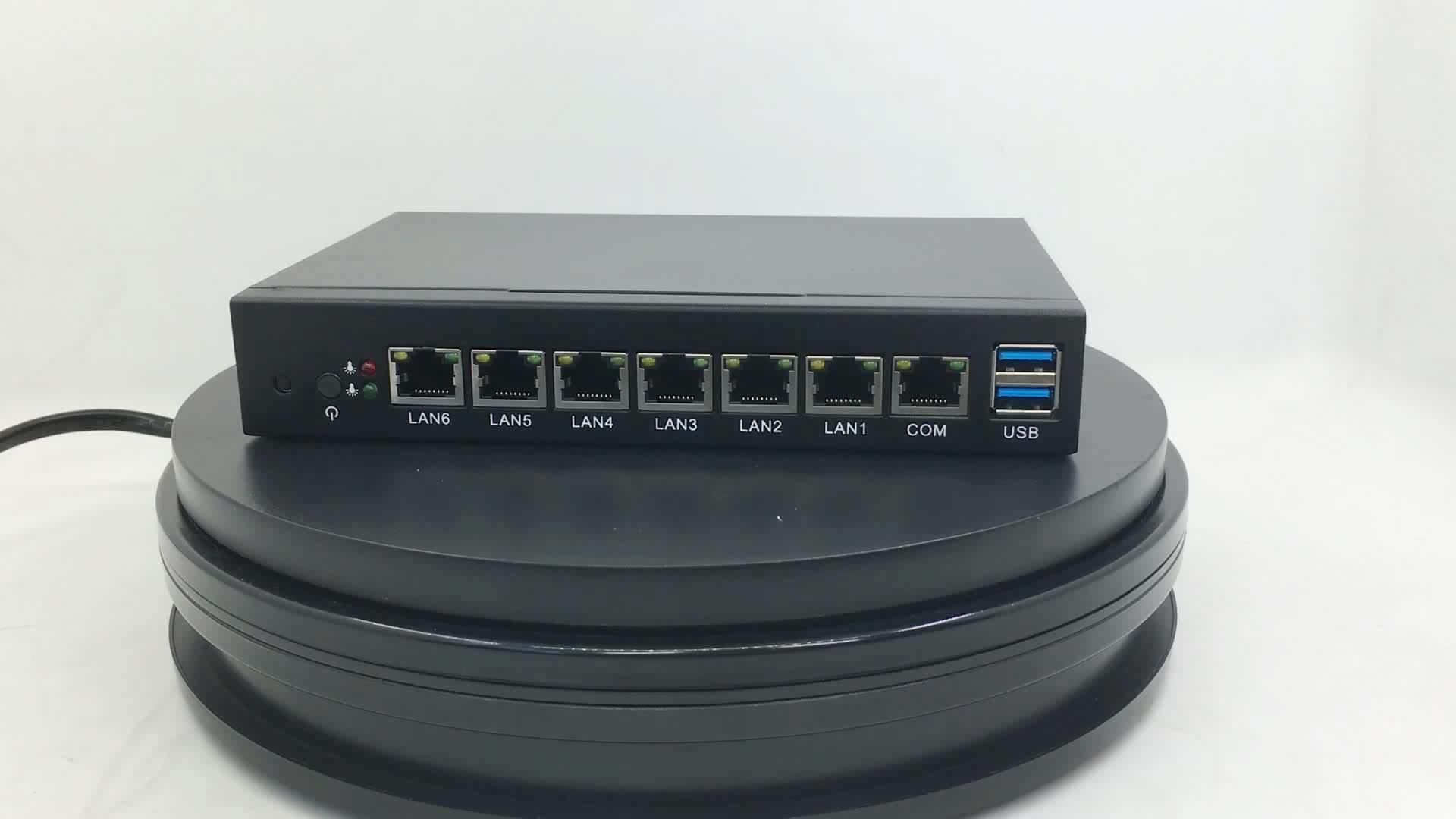 XCY 6 lan placa base Pfsense Router de red del servidor Celeron 1037U Firewall mini ordenador industrial