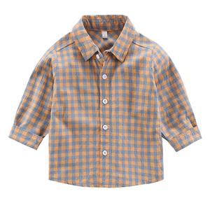 童装男童纯棉长袖2021新款韩版衬衫