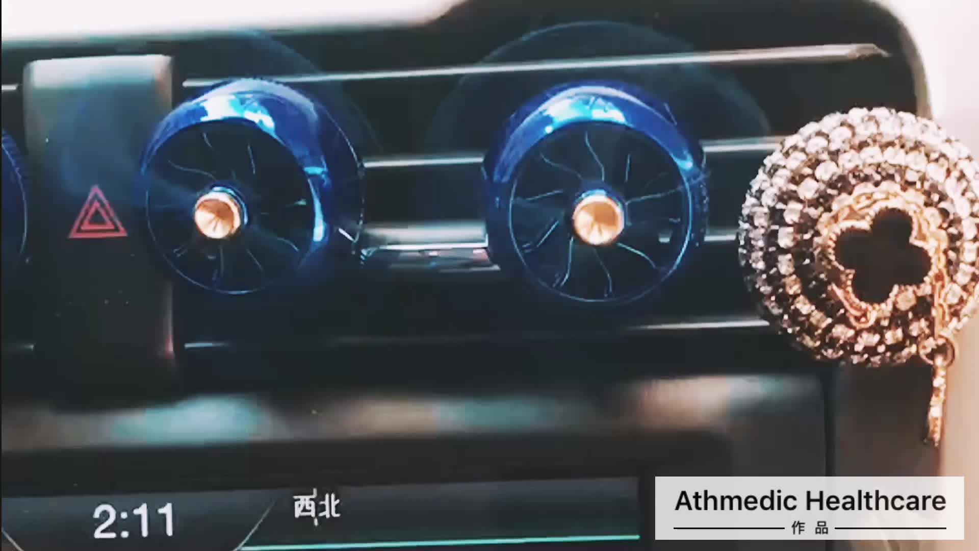 2020 de la Fuerza Aérea 8 hélice coche de Perfume de aluminio de salida de aire de Perfume Clip de ventilación ambientador difusor de la fragancia