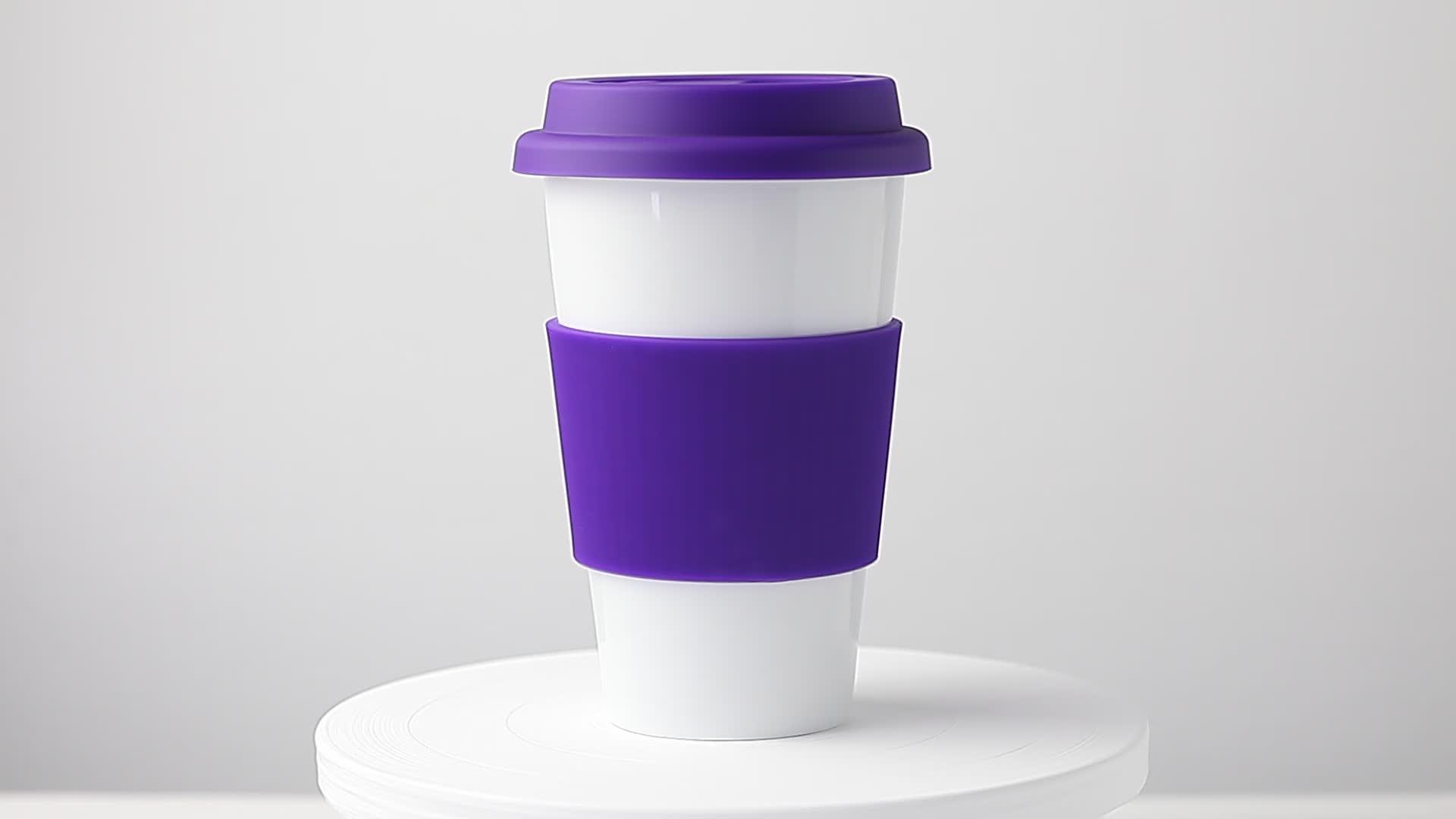 13oz 375cc purple take away mugs porcelain tube isolated silicone wrap logo mug lidded tumbler with silicone lid ceramic cup