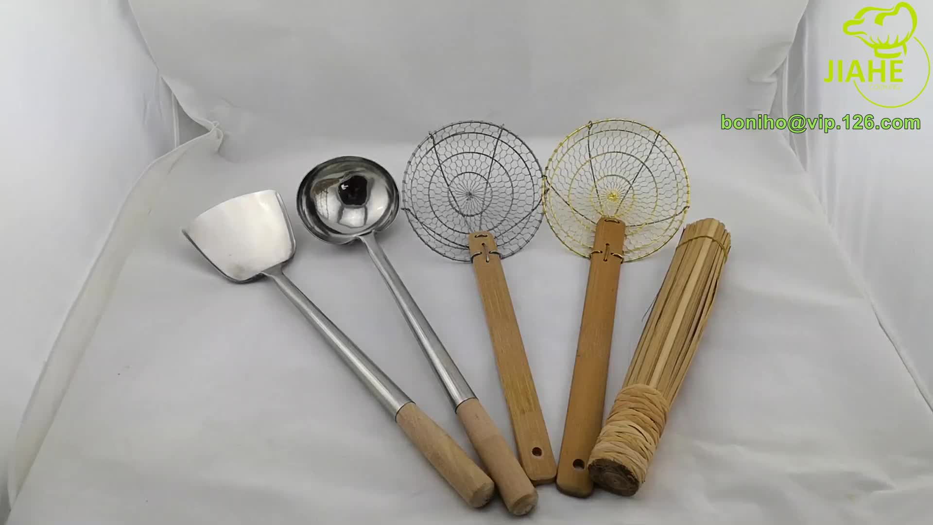 Bamboo Kitchen Utensil Spider Skimmers
