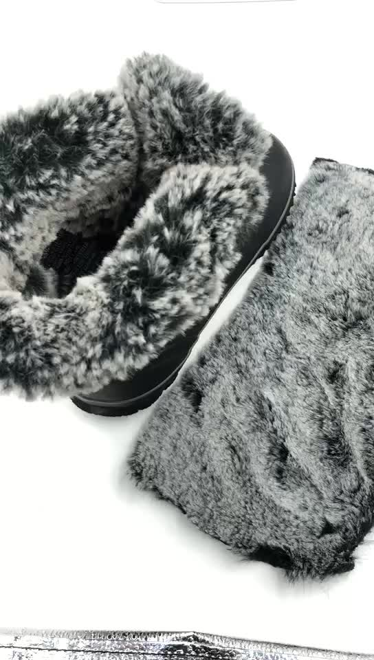 RPET muti color recycled plush faux fur recycled polar fleece fabric