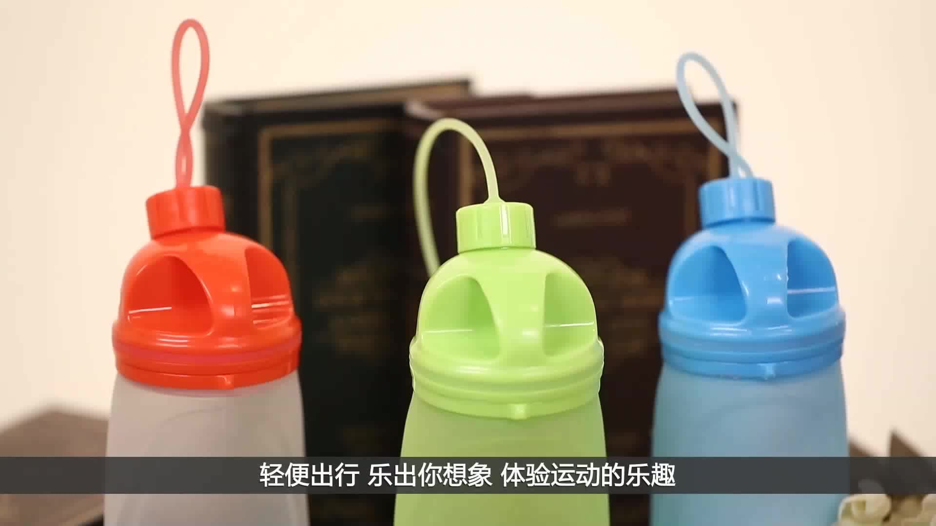 74f0f3d789 collapsible silicone water bottle/BPA Free Food Grade Silicone Collapsible  Water Bottle from D&H on