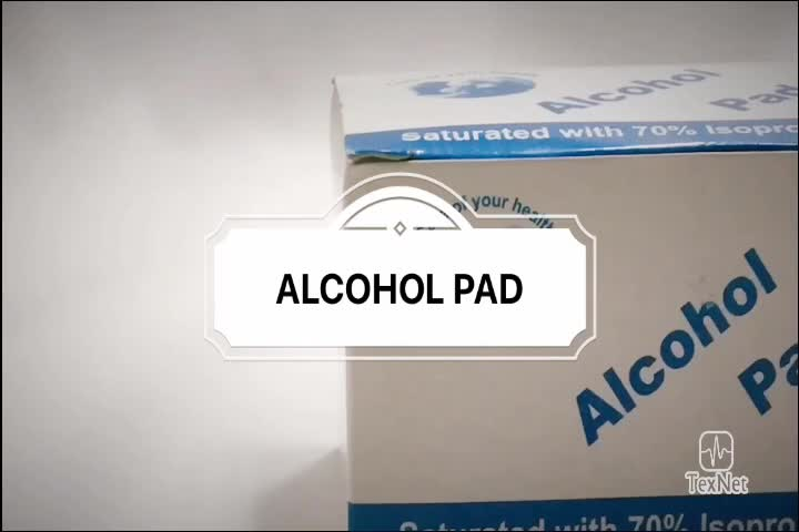 Hot Selling 3*6Cm 70% Isopropyl Antiseptic Alcohol Prep Pad With Ce Certificate