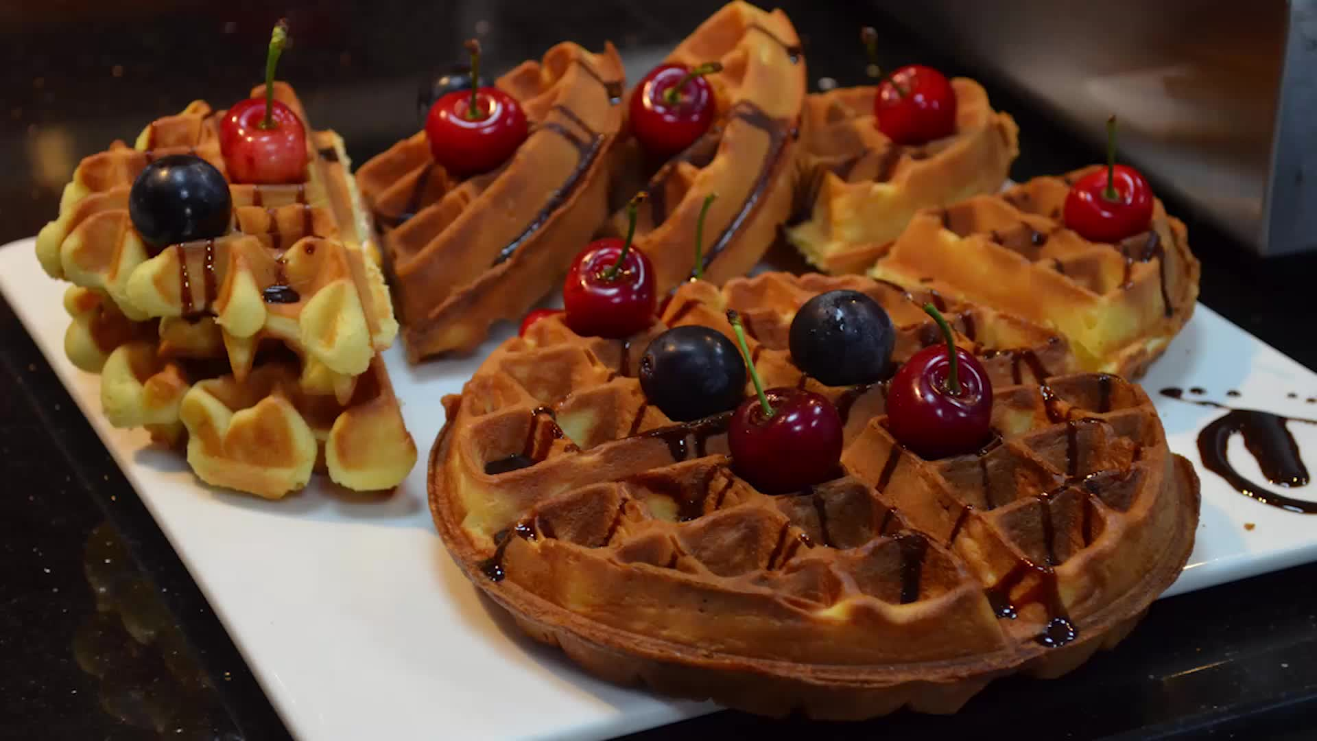 Hotel Waffle Maker Commerciale Rotante Waffle Maker Industrial Rotary Macchina Per Cialde Elettrico