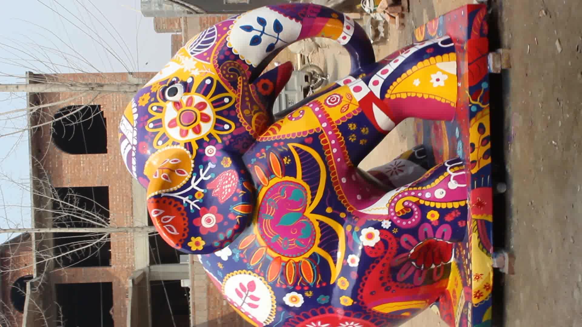 Hot selling lifelike fiberglass elephant sculptures NTBM-409A