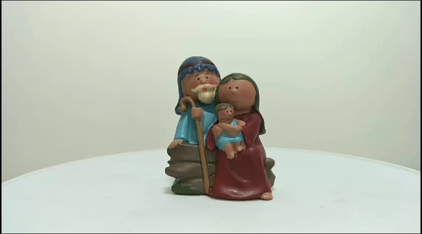 Stock Products Polyresin Religious Holy Family Nativity Set Craft For Decoration