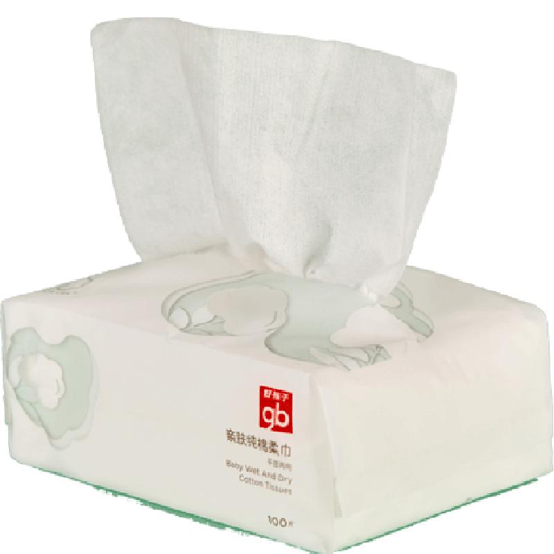 【好孩子】干湿两用加厚乳霜棉柔巾100抽