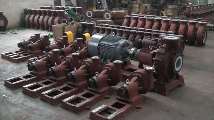 Fluorine plastic centrifugal pumps PFA lined for alkali acid liquid