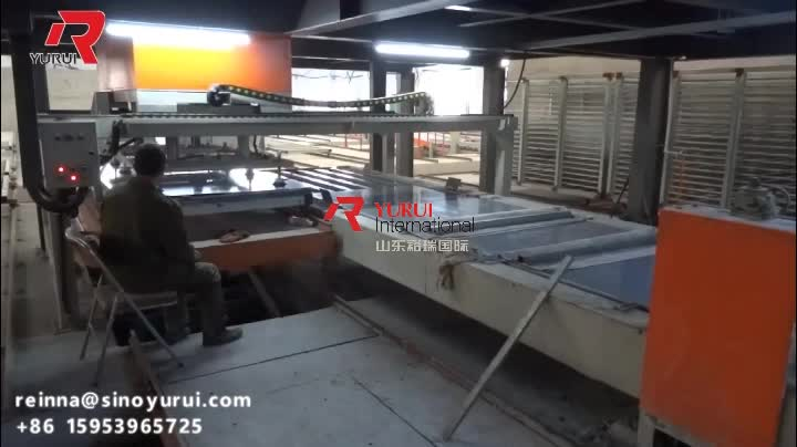 full automatic 2000pieces/shift mgo board magnesium oxide wallboard production line manufacturing process