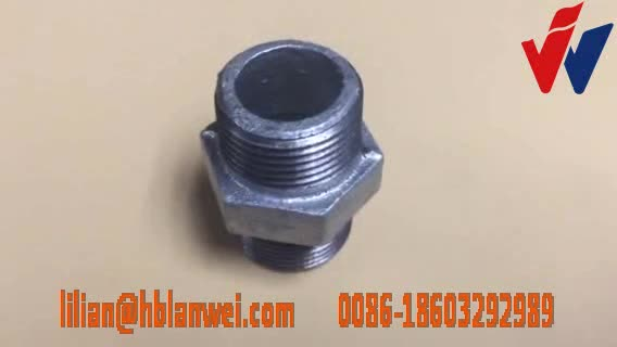 Galvanized Malleable Iron pipe clamp fittings Union with NPT threads