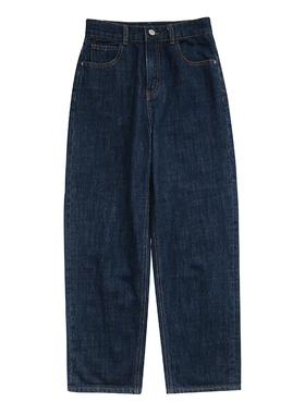 适合胯大腿粗的裤子胖妹妹mm阔腿黑色牛仔裤女大码宽松显瘦直筒裤