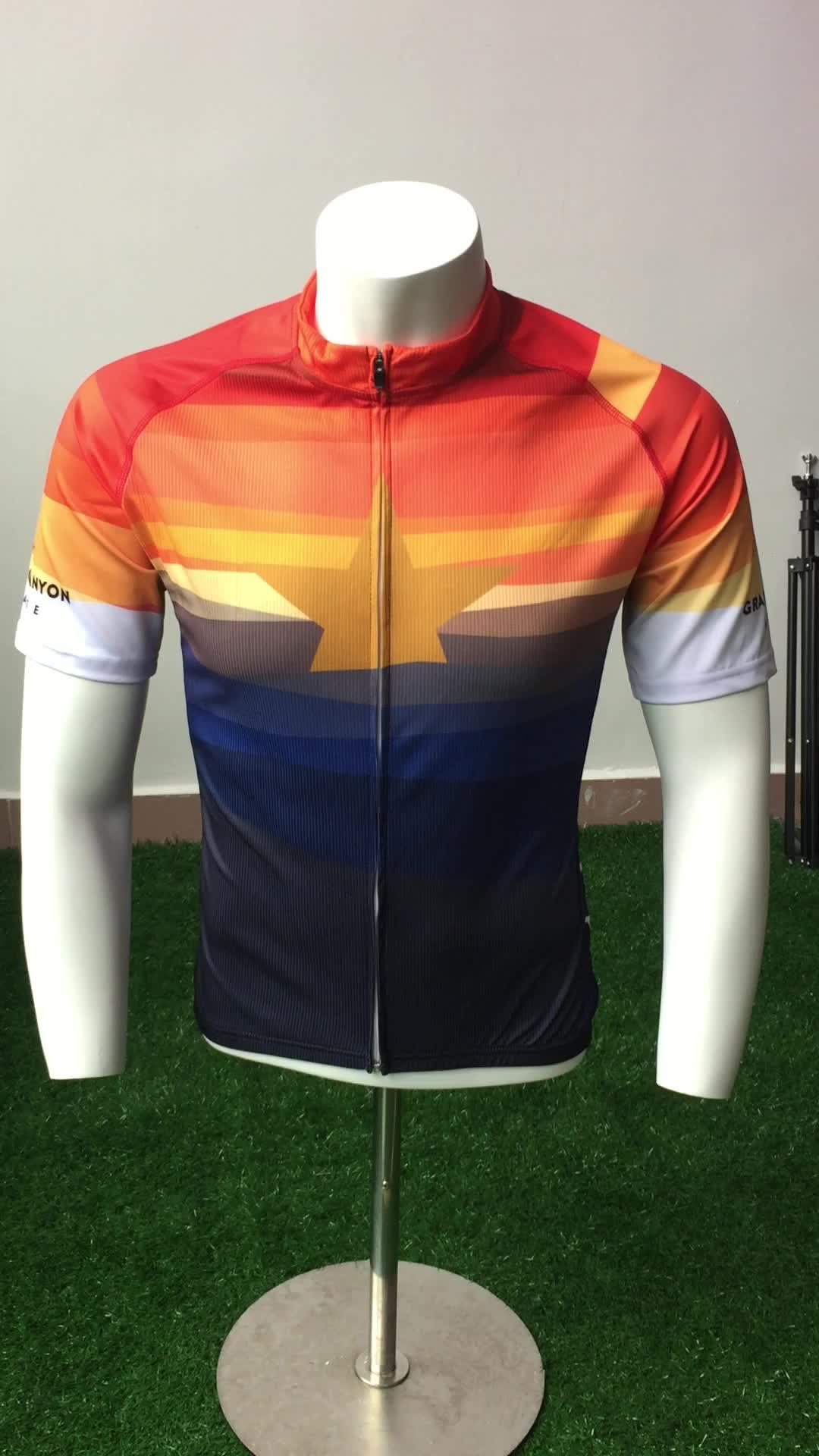 Custom 3d printing team wear racing cycling uniform shirt for Custom race shirts no minimum