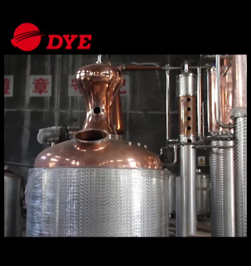 3000L Red Copper alcohol distillation apparatus for Whisky Vodka brany gin and rum