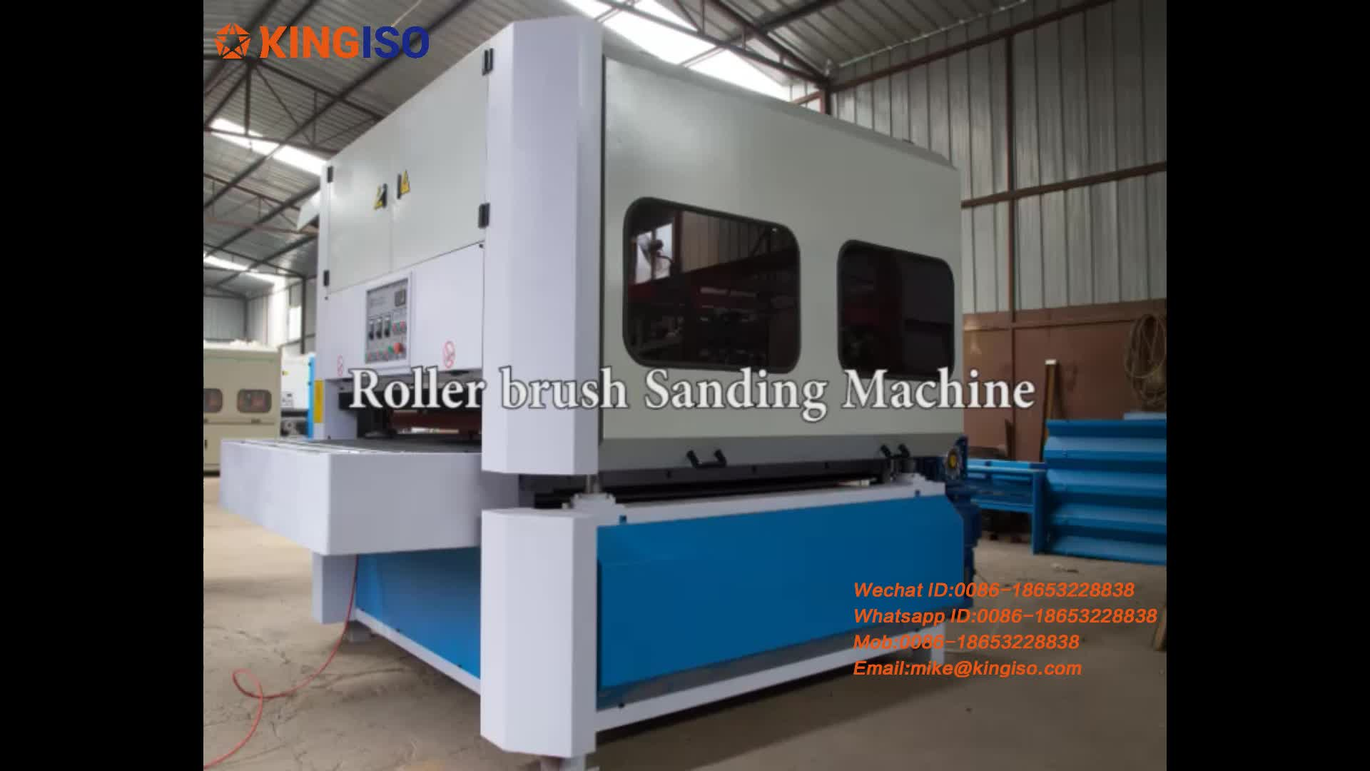 Heavy Duty Wood Surface Polishing Machine 4 Rollers Drum Sander for MDF