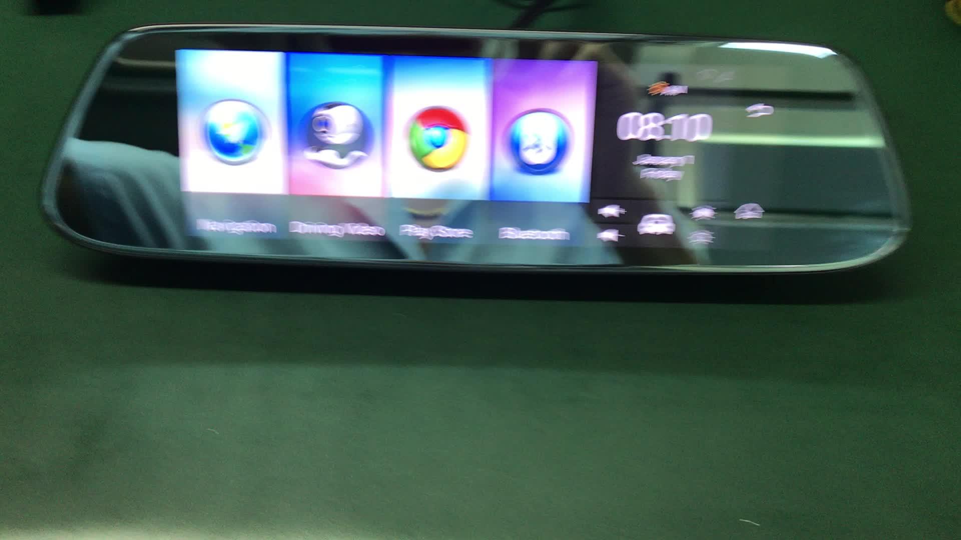 Oemのカスタムメイド8インチipsフルスクリーン車のバックミラー車両の走行データレコーダー4グラム車dvr gpsナビゲーション