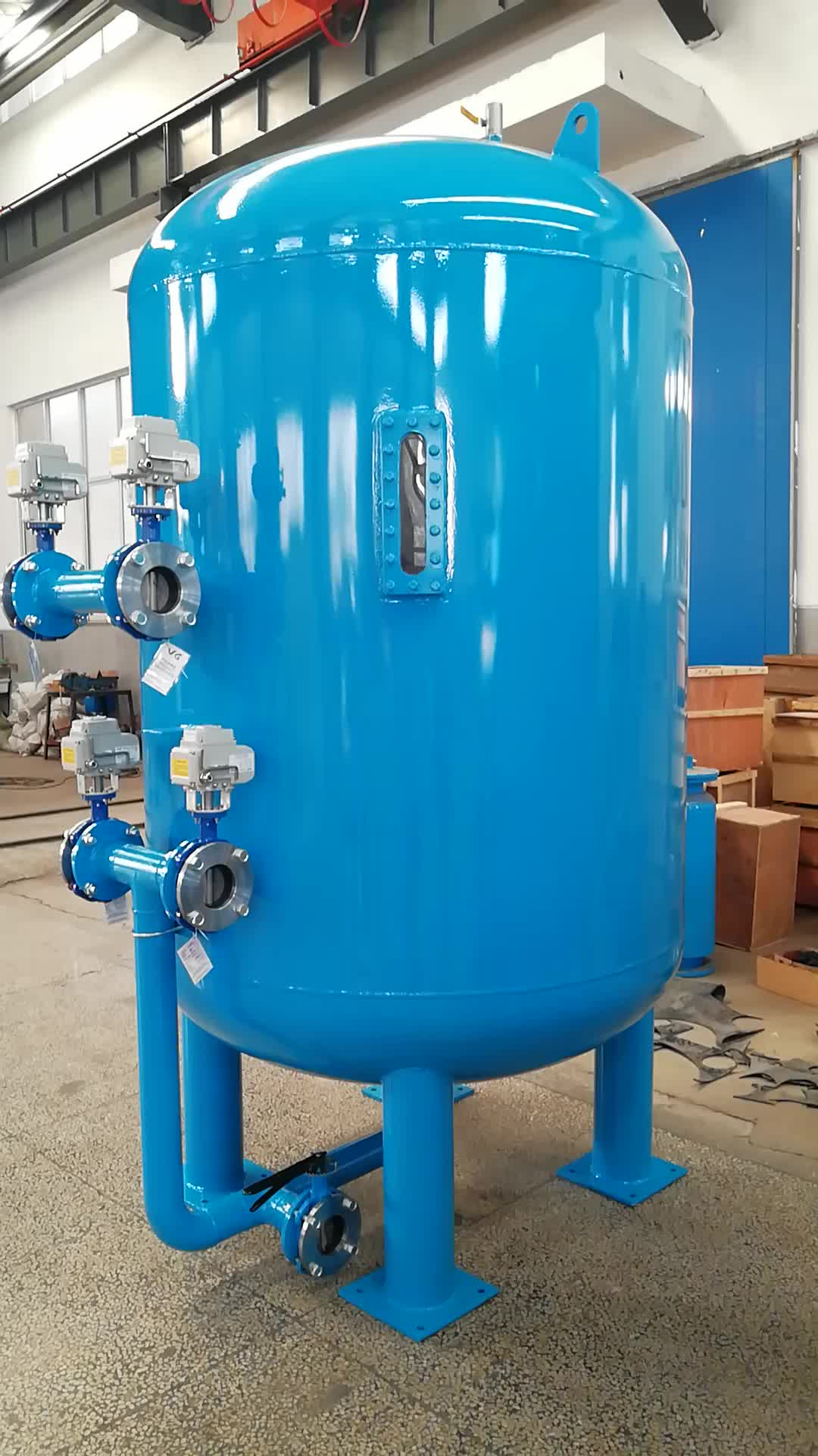 Dia1 6m Drinking Water Treatment Sand Filter,Automatic Backwash Sand/  Carbon Filter For Water Treatment - Buy Water Treatment Sand Filter,Sand  Filter