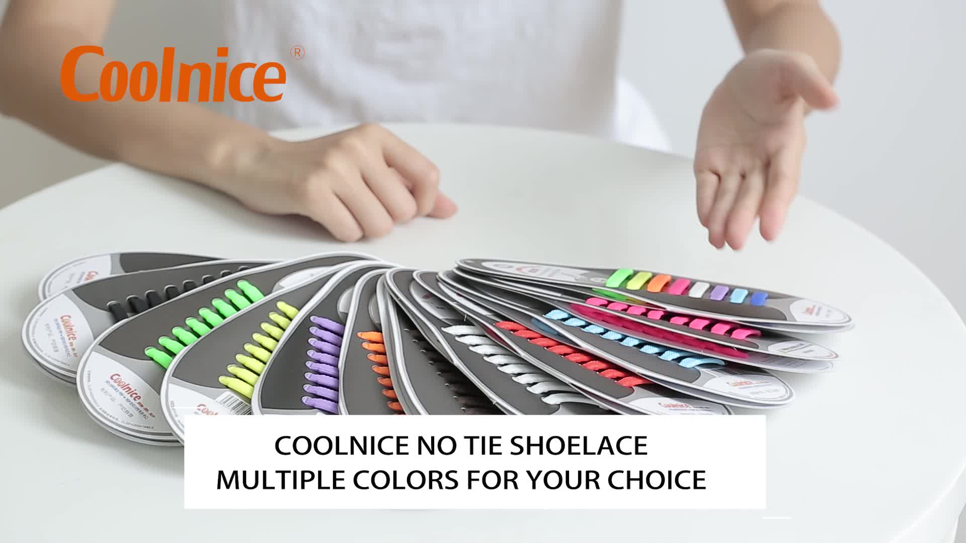 Coolnice Elastic No Tie Lazy Silicone Flat Elastic Sneaker Shoe Laces Running Shoelaces
