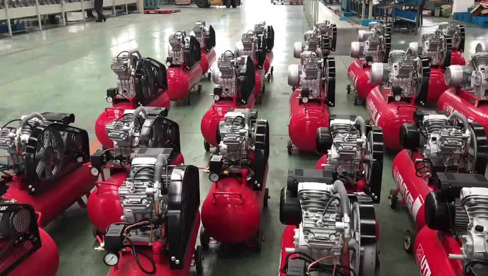 Draagbare zuiger compressor dieselmotor vermogen riem aangedreven luchtcompressor