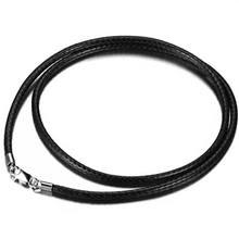925纯银蜡绳黑色皮绳男女项链绳子