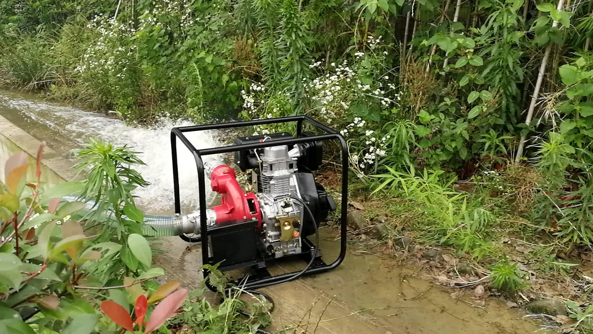 3 '' 3 inch áp lực cao gang bơm nước diesel với 186FA engine để bán