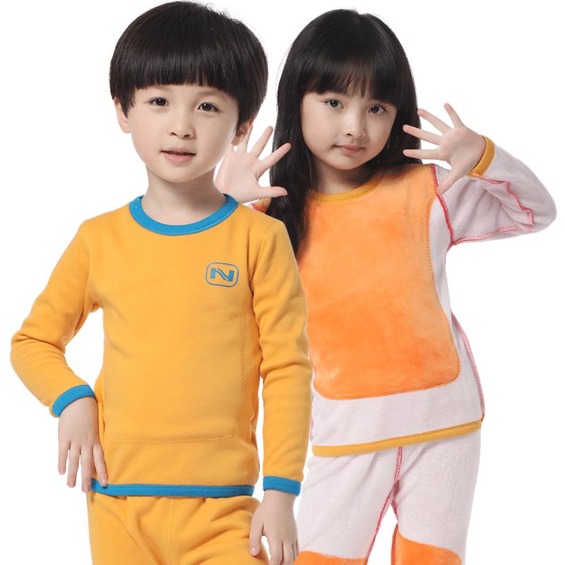 南极人童装儿童保暖内衣套装冬季秋衣秋裤加绒加厚男童女童婴儿宝