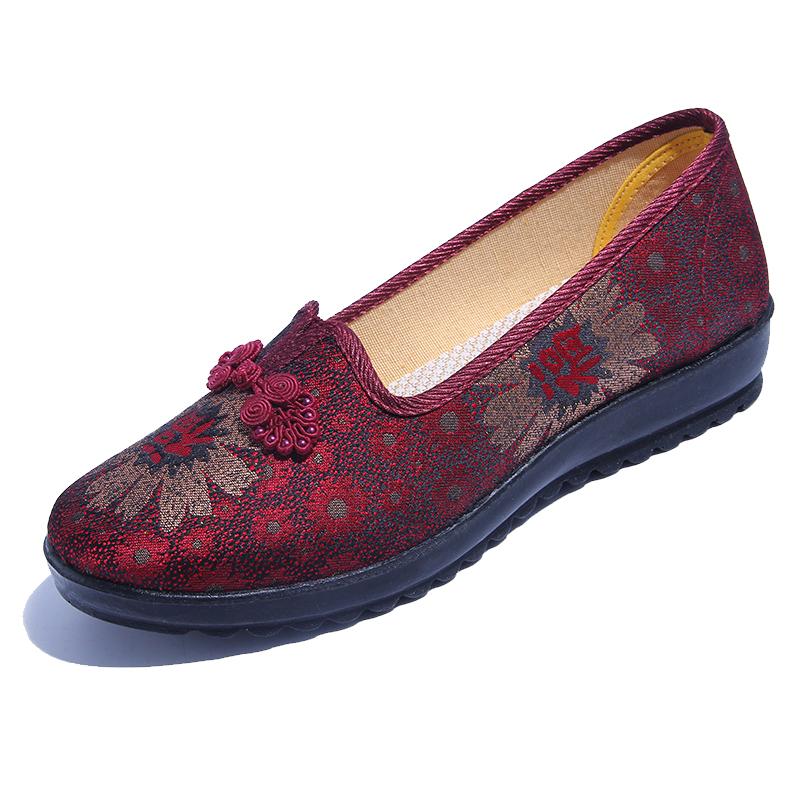 老北京布鞋女官方旗舰店官网奶奶鞋妈妈春秋款老人鞋老年软底鞋子