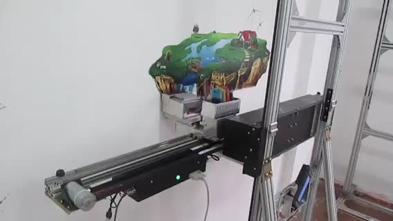 3D Automatic Wall Inkjet Printer Painting Indoor Outdoor For Wall Printer