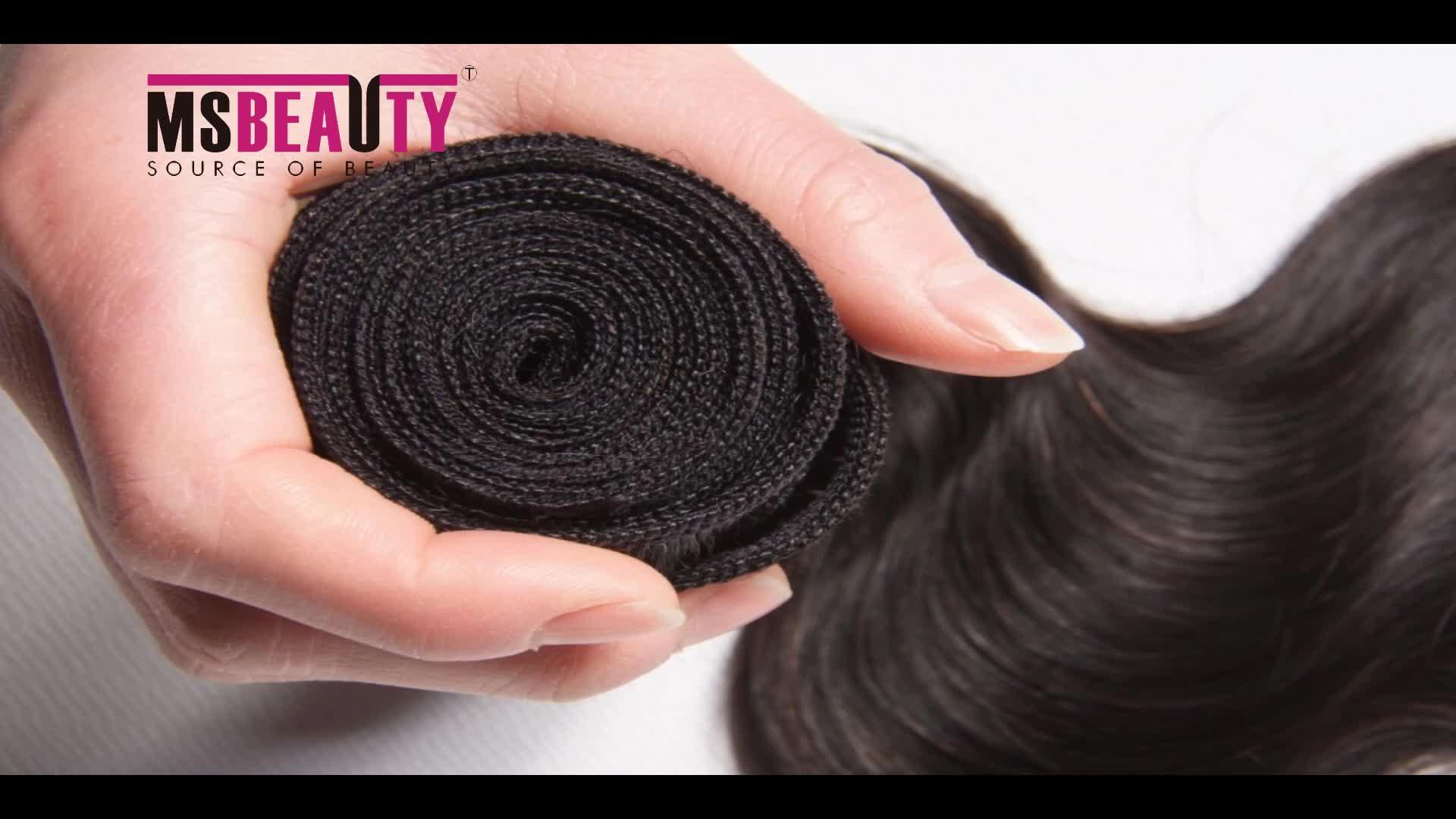MS Beauty Hotsale 8A 9A 10A 11A 12A Brazilian Indian Peruvian Malaysian cambodian Mongolian Body  wave weave Virgin Raw Hair