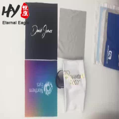 Customized size 15*15cm microfiber wipes cleaning cloth for glasses