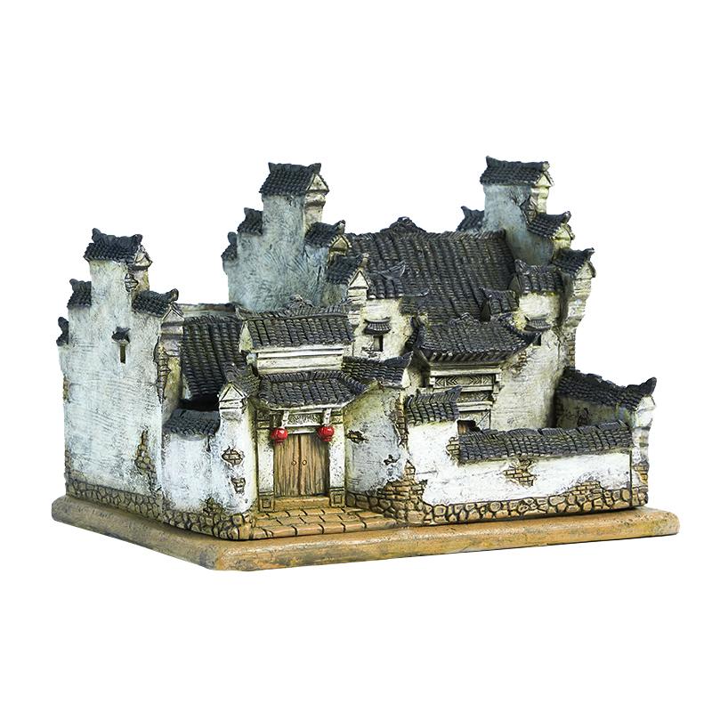 中式禅意摆件复古建筑酒柜茶台模型好不好