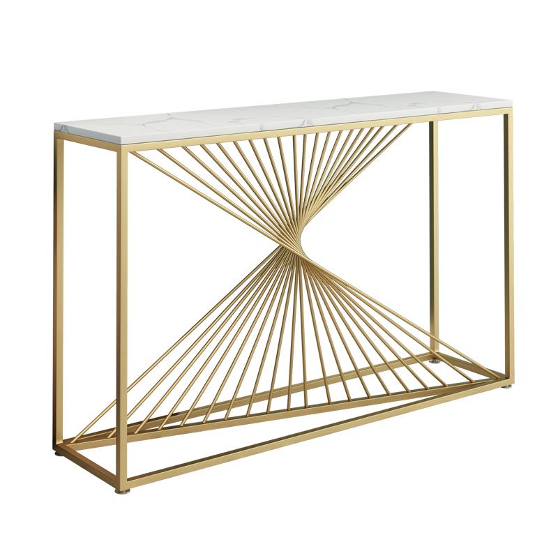 北欧现代简约网红金色铁艺边玄关桌好用吗