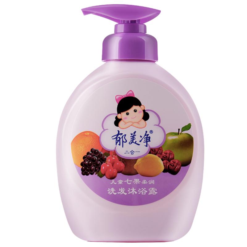 郁美净七果沐浴露二合一3瓶洗发水性价比高吗