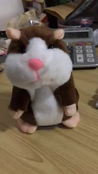 New Hot Selling Toys for Kids, 15cm Talking and Nodding Hamster Plush Repeating Plush Mouse Toys