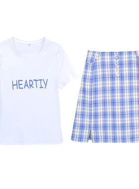 小个子显高半身裙套装女2021夏季新款洋气小清新两件套甜美名媛