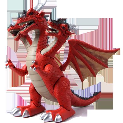 文盛三头翼龙恐龙玩具电动的模型