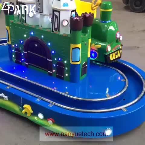 cheap price coin operated Round Castle kiddy ride Train game machine