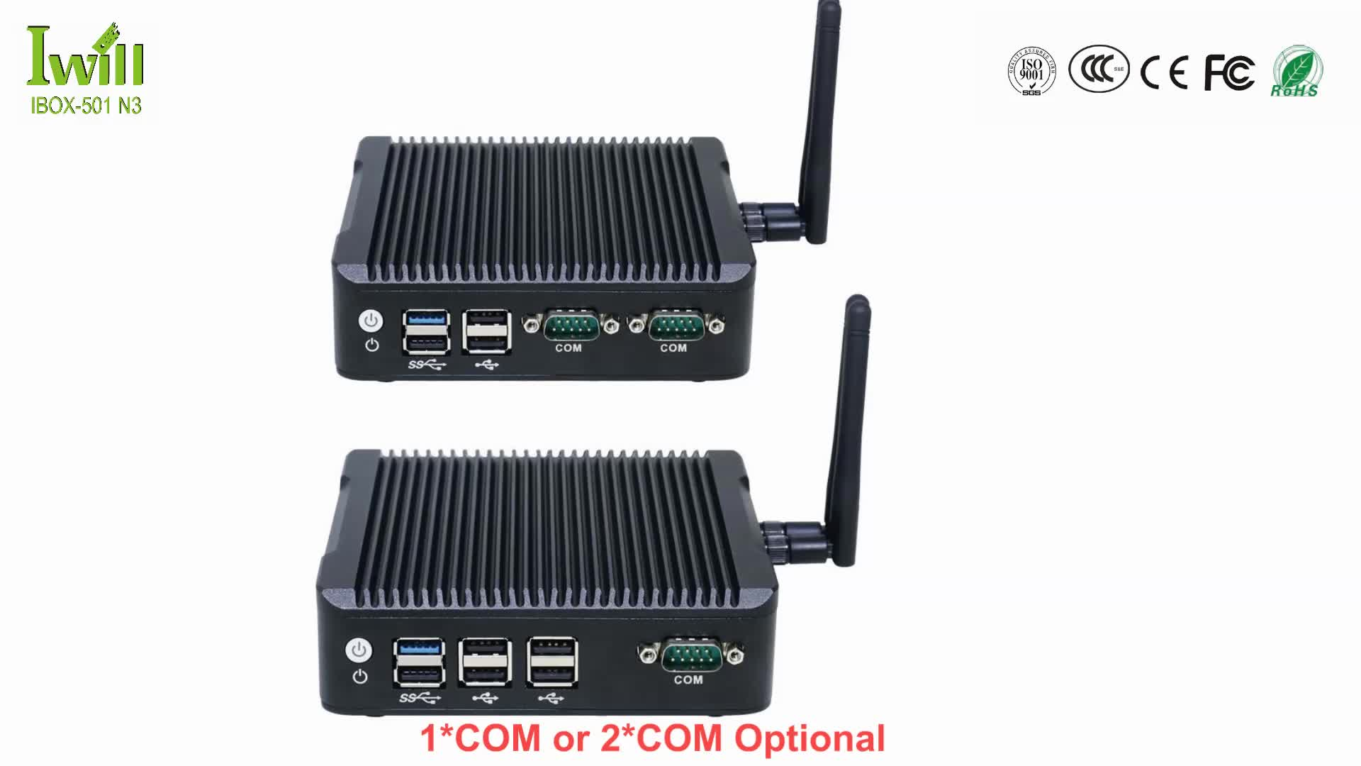 Ultra low power J1900 quad core fanless industrial 2 ethernet mini pc