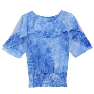 短款夏季2021新款短袖遮肚子雪纺衫